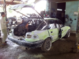 ae92 corolla liftback body repair 2